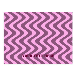 Wobbly Waves (Pink/Pink) Postcard