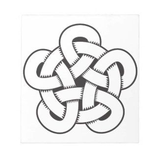 wodcut style quintuple knot notepads
