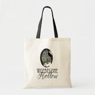 Woebegone Hollow logo tote bag