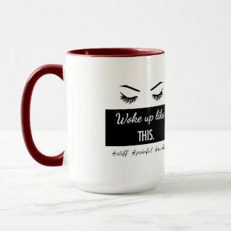 Woke Up Like This eyelashes mug in 5 colors