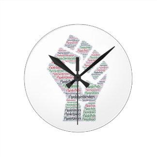 #WokeWednesdays Round Clock