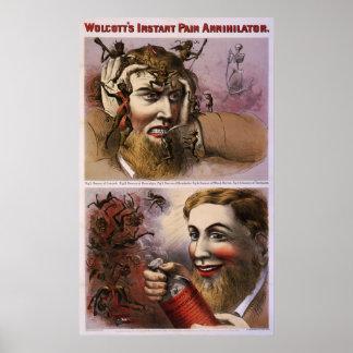 Wolcott's instant pain annihilator poster