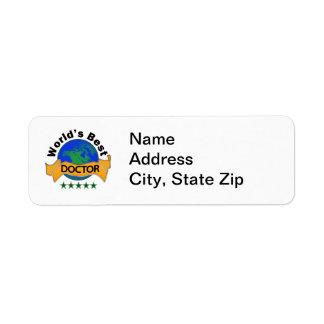 Wold's Best Doctor Return Address Label