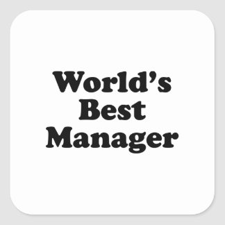 Wold's Best Manager Square Sticker