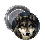 Wolf 2 Inch Round Button