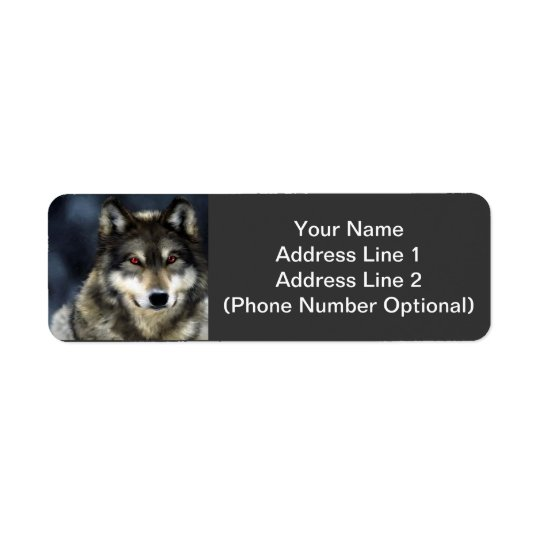 Wolf Address Sticker Return Address Label