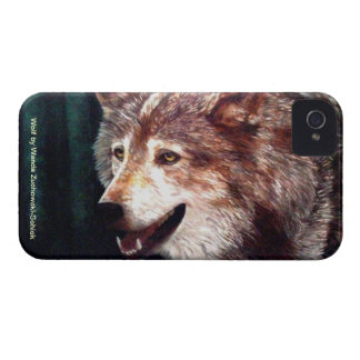 Wolf, an oil painting by Wanda Zuchowski-Schick iPhone 4 Covers