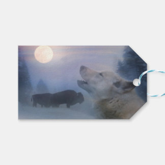 Wolf and Buffalo Southwestern Gift Tags