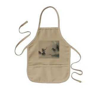 Wolf and Deer Kids Apron