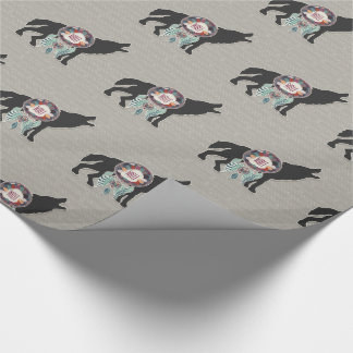 Wolf and Dream Catcher Native American Theme Wrapping Paper