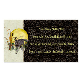 Wolf and Full Moon Pack Of Standard Business Cards