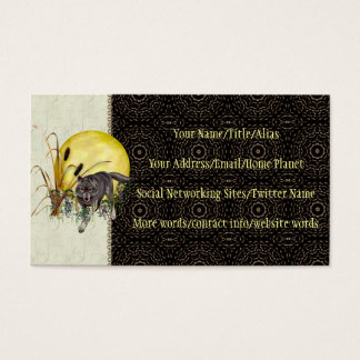 Wolf and Full Moon Business Card