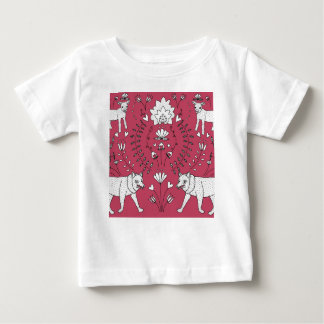 wolf and lamb pattern baby T-Shirt