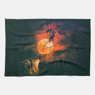 Wolf and Mead Moon Kitchen Towel