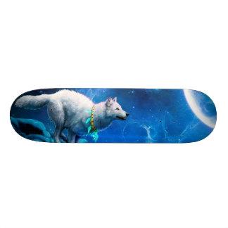 Wolf and Moon Custom Skateboard
