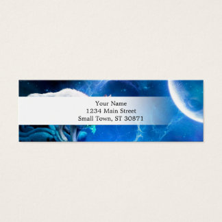 Wolf and Moon Mini Business Card