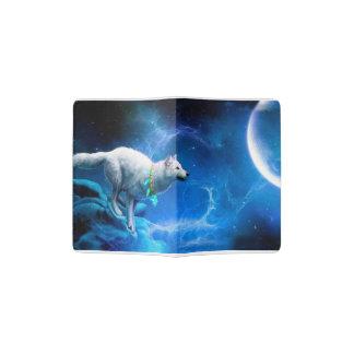 Wolf and Moon Passport Holder