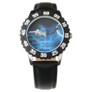 Wolf and Moon Wrist Watches