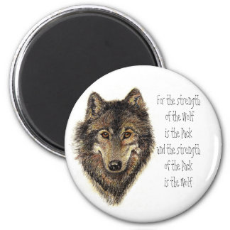 Wolf and Pack Quote - Animal Collection 2 Inch Round Magnet