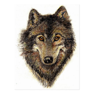Wolf and Pack Quote - Animal Collection Postcard