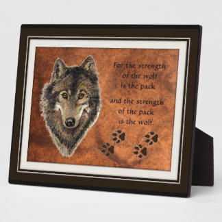 Wolf and Pack Quote Plaque