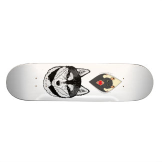 wolf and rat skateboard