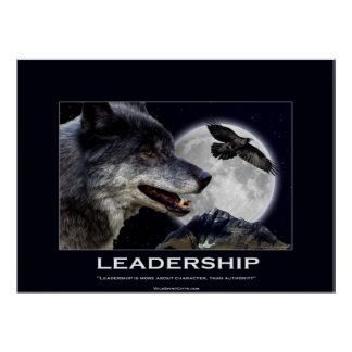 Wolf and Raven Leadership Motivational Poster
