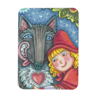 Wolf And Red Riding Hood MAGNET *Customize