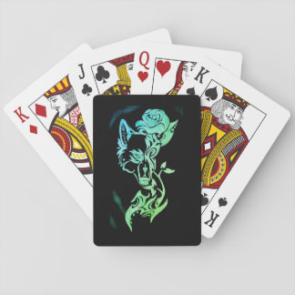 Wolf and rose poker deck