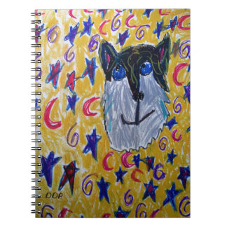 wolf and star and moon notebook
