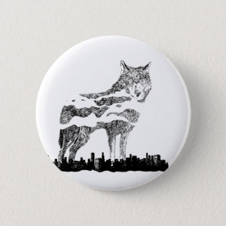 Wolf and The City 2 2 Inch Round Button