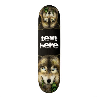 Wolf and Unlucky Little Guy Skate Deck