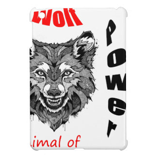 wolf-animal of to power cover for the iPad mini