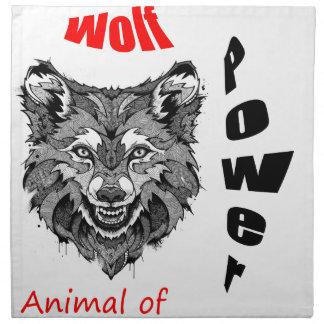 wolf-animal of to power napkin