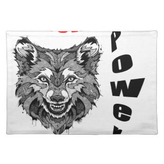 wolf-animal of to power placemat