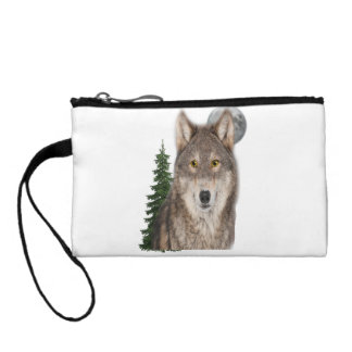 wolf art coin purse