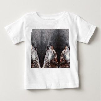 Wolf art - howling wolf - wolf painting baby T-Shirt