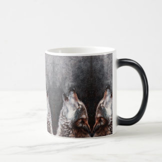 Wolf art - howling wolf - wolf painting magic mug