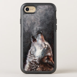 Wolf art - howling wolf - wolf painting OtterBox symmetry iPhone 8/7 case
