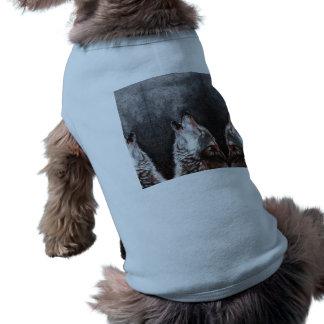 Wolf art - howling wolf - wolf painting shirt