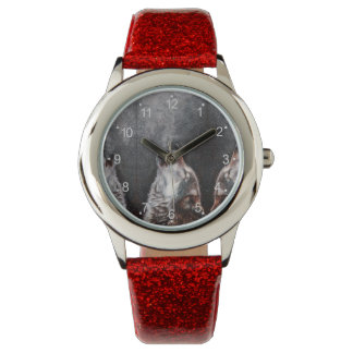 Wolf art - howling wolf - wolf painting watch