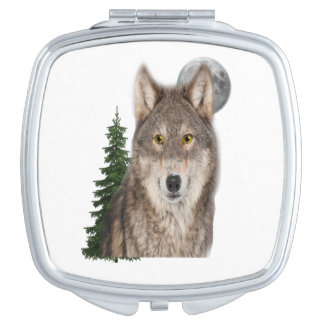 wolf art makeup mirror
