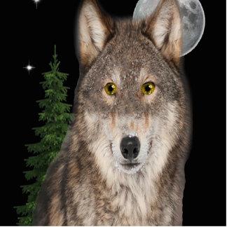 wolf art photo sculpture keychain