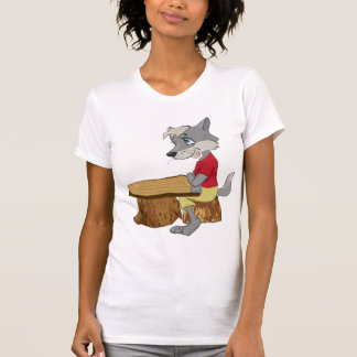 Wolf At A Table Womens T-Shirt