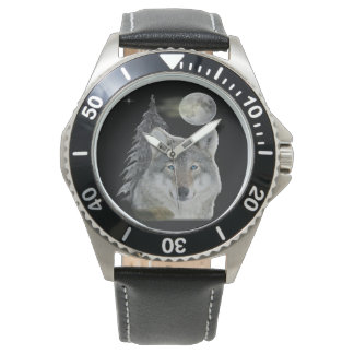 Wolf at Night products Wrist Watches
