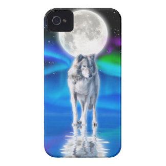 Wolf, Aurora & Moon Wildlife Art iPhone 4 Case