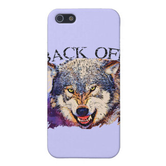 WOLF ... BACK OFF! CASE FOR iPhone 5/5S
