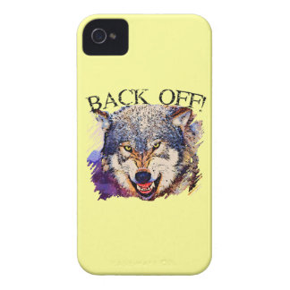 WOLF ... BACK OFF! iPhone 4 Case-Mate Case