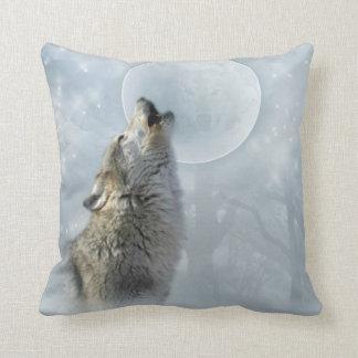 Wolf Blue Moon American MoJo Pillow