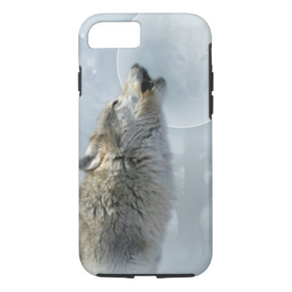 Wolf Blue Moon iPhone 7 Case